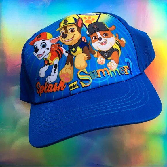 c2ad11de233 1 LEFT! NWT Kids Paw Patrol Blue Hat Cap